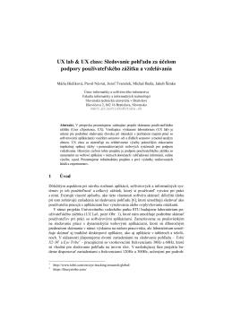 UX lab & UX class: Sledovanie pohľadu za účelom