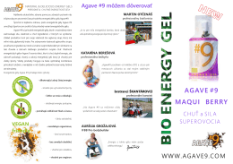 agave #9 maqui berry - Agave #9 energy gels EN
