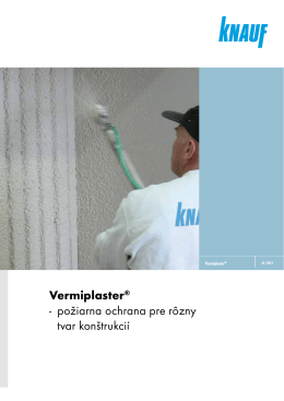 Vermiplaster® - požiarna ochrana pre rôzny tvar konštrukcií