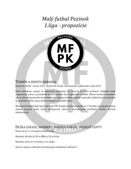 Propozície 1.liga - Malý futbal Pezinok
