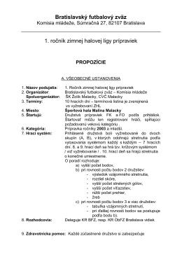propozície ZHL prípravky 2013