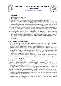 Smernice - Klub chovateľov letúnov a tipplerov