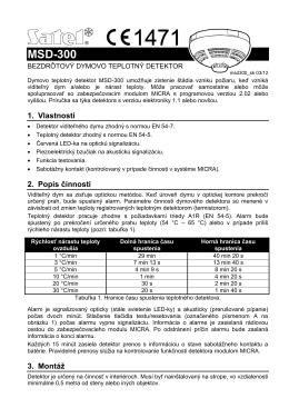 Manuál MICRA Dym detektor_SK