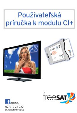 Používateľská príručka k modulu CI+