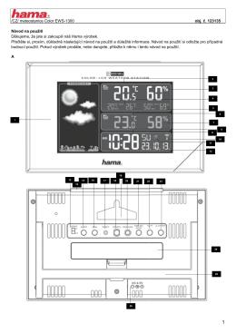 CZ/ meteostanice Color EWS-1300 obj. č. 123135 Návod na