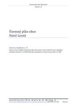 Zmena a doplnok č. 15