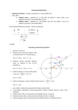 Goniometrická funkcia