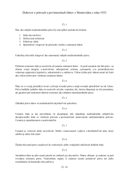 Dohovor o právach a povinnostiach štátov z