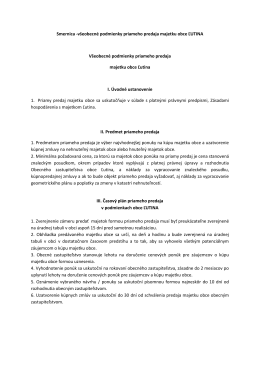 Smernica-všeobecné podmienky priameho predaja majetku