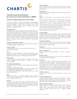 Všeobecné poistné podmienky pre cestovné a