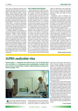 ALPHA analyzátor vína - OK SERVIS BioPro sro