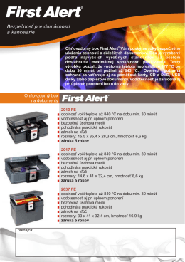 ohňovzdorné boxy First Alert FE