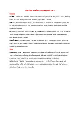 ČEREŠNE A VIŠNE - ponuka jeseň 2013