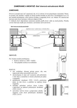 Zameranie a montáž- Dverové extrudované siete 40x20