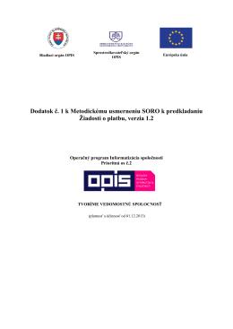 Úvod + základné dokumenty, ktoré sa k usmerneniu vzťahujú