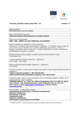 Rast efektívnosti pracovného kapitálu_formulár dobrej praxe