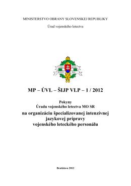 Pokyny Úradu vojenského letectva MO SR na organizáciu