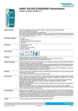 HASIT AG 653 STANDARD Fliesenkleber