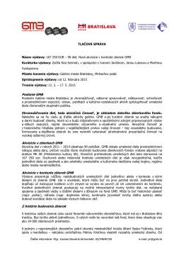kompletná tlačová správa so zoznamom diel v PDF