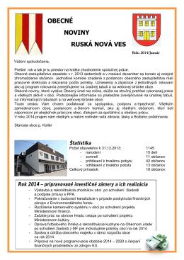 Obecné noviny 2014 - Obec Ruská Nová Ves