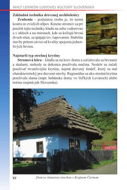 Malý lexikón Ľudovej kultúry SlovenSka Základná