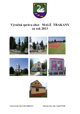Výročná správa obce MALÉ TRAKANY za rok 2013