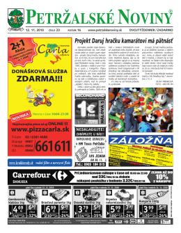 Kto som - Petržalské Noviny