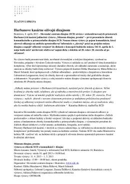 Tlačová správa - Slovenské centrum dizajnu