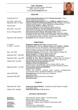 CV_SVK - Katedra verejného zdravotníctva