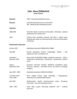 JUDr. Alena ČERNEJOVÁ