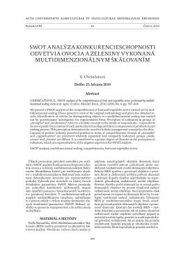 swot analýza konkurencieschopnosti odvetvia