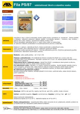 FILA PS/87 - odstraňovač škvŕn a starého vosku