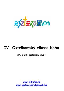 IV. Ostrihomský víkend behu
