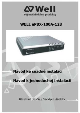WELL ePBX-100A-128 Návod ke snadné