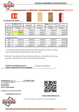 drevené protipožiarne dvere EI EW D3 30 až 45