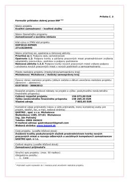 GASTRO Formulár príkladov dobrej praxe ESF – b