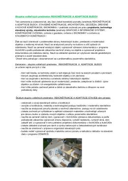 rekonštrukcie a adaptácie budov