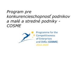 Program pre konkurencieschopnosť podnikov a malé a stredné