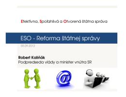 ESO - Reforma štátnej správy