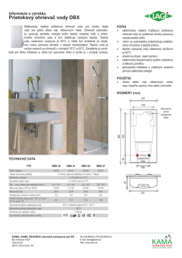 Prietokový ohrievač vody DBX