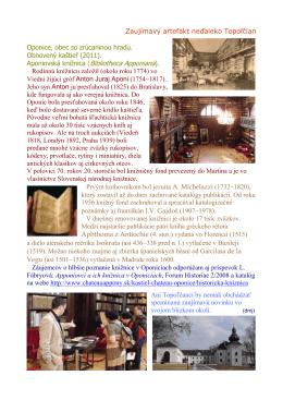 Aponiovská knižnica - artefakt neďaleko Topoľčian