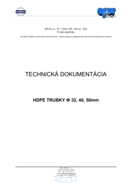 Technická dokumentácia HDPE
