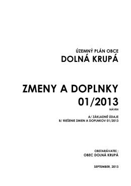 ZMENA 01-2013 UPN - Obec Dolná Krupá