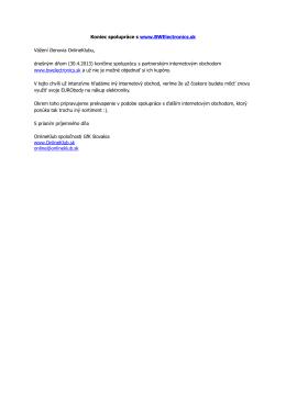 Koniec spolupráce s www.BWElectronics.sk