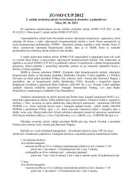 ZOMO CUP 2012 - Slovenská komora súkromnej bezpečnosti