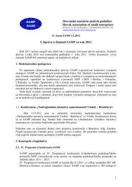 2011 - Slovenská asociácia malých podnikov