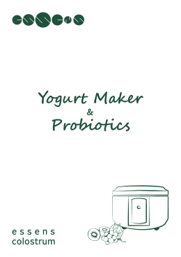 Yogurt Maker Probiotics
