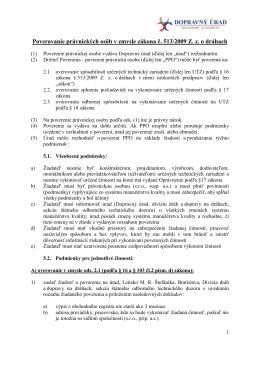 Podmienky pre poverovanie právnických osôb