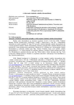 Zápisnica z rokovania RVZ zo dňa 28.06.2013
