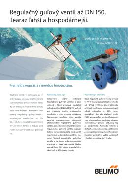 Flyer: 2-cestné Regulačné guľové ventily do DN 150